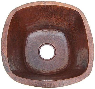 Rounded Weathered Hammered Copper Bar Sink