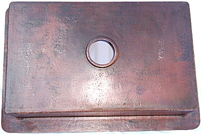 Flat Hammered Copper Kitchen Sink IV Details