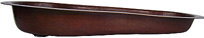 Curly Hammered Copper Bar Sink Close-Up