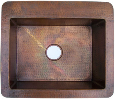 Terra Hammered Kitchen Copper Sink III
