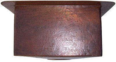 Terra Squared Hammered Bar Copper Sink Details