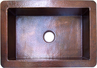 Terra Hammered Copper Kitchen Sink IV
