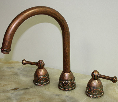 Bella Villa Weathered Copper Kitchen Sink Faucet
