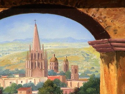 Arch View Of San Miguel Cathedral Close-Up