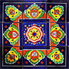 Almenar Mexican Tile Set Backsplash Mural