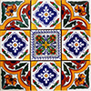 Barcus Mexican Tile Set Backsplash Mural