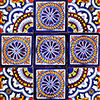 Lanaja Mexican Tile Set Backsplash Mural