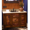 Antique Pinewood With Copper Inserts Vanity
