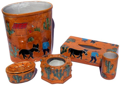 Desert Talavera Ceramic Bathroom Set
