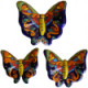 Multicolor Talavera Ceramic Butterfly Set (3)