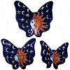 Eclipse Talavera Ceramic Butterfly Set (3)