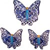 Traditional Talavera Ceramic Butterfly Set (3)