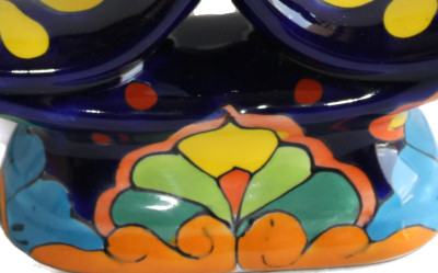 Rainbow Talavera Candle Holder Close-Up