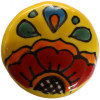 Round Canary Talavera Ceramic Drawer Knob