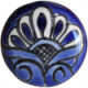Round Blue Talavera Ceramic Drawer Knob