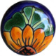 Round Sunflower Talavera Ceramic Drawer Knob