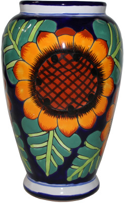 Sunflowers Mermaid Talavera Flower Vase