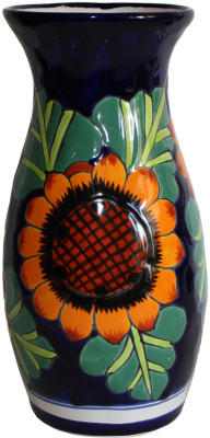 Sunflower Talavera Round Flower Vase