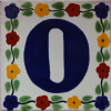 Bouquet Talavera Tile Number Zero