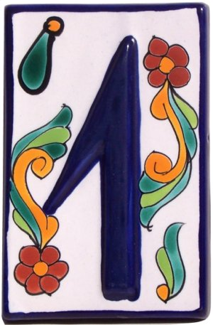Colonial Talavera Ceramic House Number One