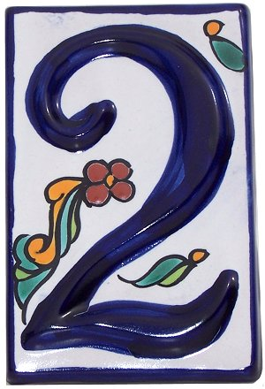 Colonial Talavera Ceramic House Number Two