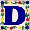 Bouquet Talavera Clay House Letter D