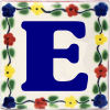 Bouquet Talavera Clay House Letter E