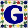 Bouquet Talavera Clay House Letter G
