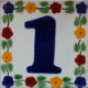 Bouquet Talavera Tile Number One