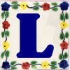 Bouquet Talavera Clay House Letter L