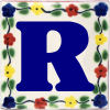 Bouquet Talavera Clay House Letter R