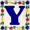Bouquet Talavera Clay House Letter Y