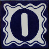 Blue Talavera Tile Number Zero
