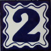 Blue Talavera Tile Number Two