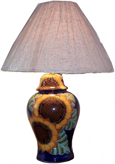 Sunflower Talavera Ceramic Lamp