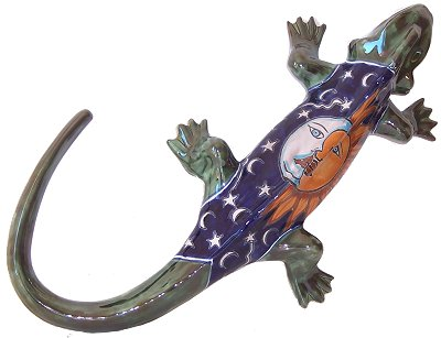 Big Eclipse Garden Ceramic Iguana