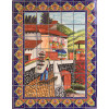 Bird Seller Clay Talavera Tile Mural