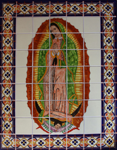 Zachariah isabel virgen de guadalupe for Ceramic mural painting