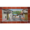 Little Town Mexican Talavera Tile Mural
