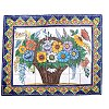 Basket Of Flowers Clay Talavera Tile Mural