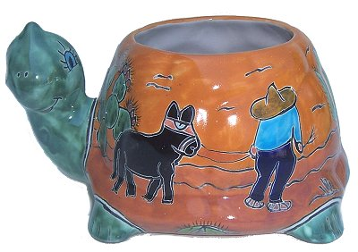 Desert Turtle Talavera Ceramic Planter