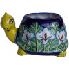 Lily Turtle Talavera Ceramic Planter