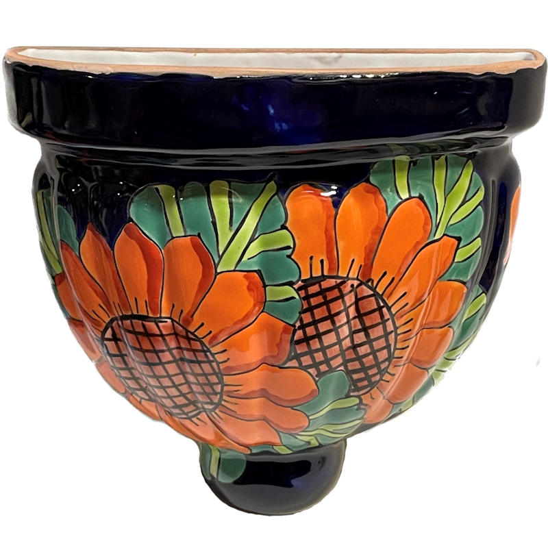 Sunflower Talavera Planter