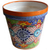 Medium Multicolor Talavera Ceramic Pot