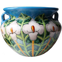 Big Lily Flower Talavera Ceramic Pot