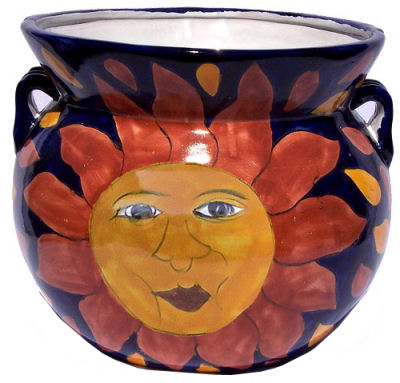 Big Sun II Talavera Ceramic Pot