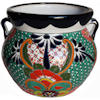 Medium Paracho Mexican Talavera Ceramic Pot