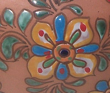 Flower Terracota Ceramic Pot Close-Up