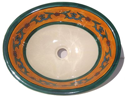 Liz Flower Ceramic Talavera Sink