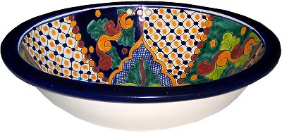 Janitzio Talavera Ceramic Sink Close-Up